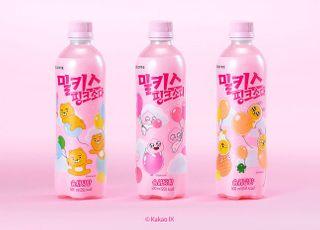 롯데칠성, '밀키스 핑크소다 카카오프렌즈 에디션' 출시