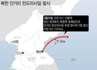 北, 동해상으로 단거리 탄도미사일 추정 2발 발사