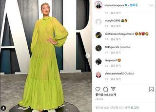 [SNS샷] 샤라포바, 몸매 드러나는 시스루 드레스
