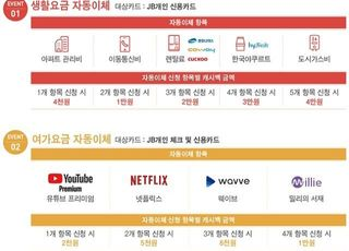 전북은행 '자동이체 이벤트' 최대 5만원 캐시백