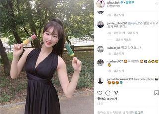 [SNS샷] 안지현 치어리더, 섹시한 홀터넥 패션 눈길