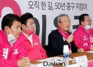 """[총선2020] 대전 찾은 김종인 """"황운하 같은 사람, 국민 대표자 될 수 없어"""""""