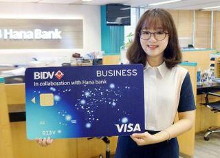 하나은행, '베트남 BIDV 제휴 법인카드' 발급