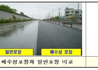 국토부, 배수성포장 활성화 추진…교통사고 예방·소음 저감