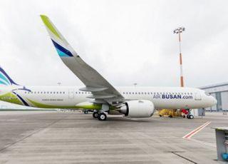 에어부산, 신형 항공기 A321LR 부산-김포 노선 첫 운항