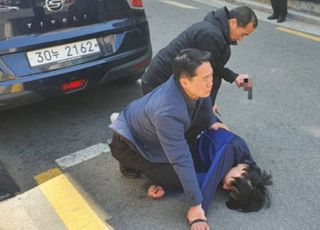[속보] 오세훈 유세현장, 한 남성 흉기들고 난입했다 경찰에 체포