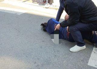 [총선2020] 오세훈 유세현장에 한 남성 흉기 들고 접근하다 체포 당해