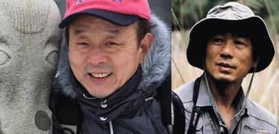 작가 이우상(왼쪽) , 사진가 최진연(오른쪽)