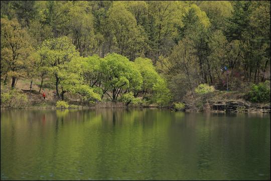 호수와 숲의 조화가 아름다운 단산지 ⓒ 김숙현