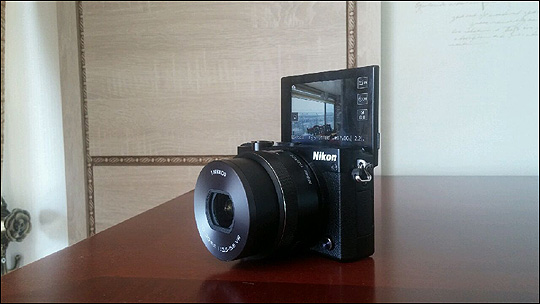 니콘 1 J5 셀프 카메라 촬영모드. ⓒ데일리안