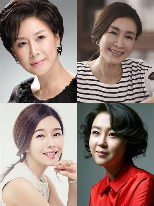 배우 박정수(왼쪽 위부터 시계방향), 정애리, 이재은, 박탐희가 뮤지컬