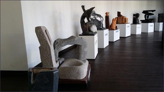 제주조각공원 실내 전시관 전시되어 있는 작품.ⓒ조남대