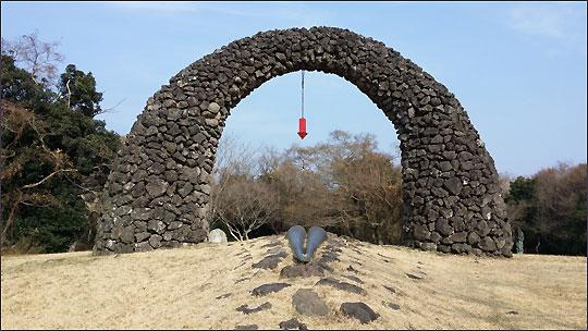제주조각공원 야외에 전시되어 있는 작품.ⓒ조남대