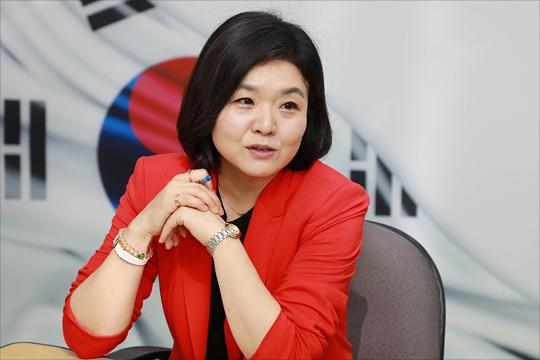 류여해 자유한국당 여성 최고위원 후보가 27일 오전 서울 여의도 자유한국당 당사에서 데일리안과 인터뷰를 갖고 있다. ⓒ데일리안 홍금표 기자