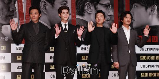 배우 장동건, 김명민, 이종석 박희순이 31일 오전 서울 강남구 CGV압구정에서 열린 영화