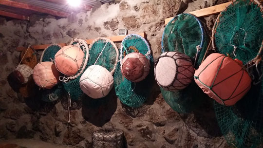 해녀박물관에 전시되어 있는 물품.ⓒ조남대