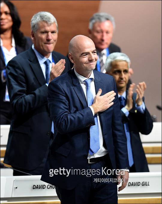 지안니 인판티노 국제축구연맹 회장이 17일 FIFA 여자월드컵 본선 진출에 성공한 대한민국 여자대표팀에 축하 편지를 보내왔다. ⓒ 게티이미지
