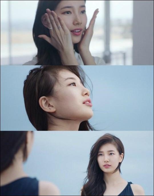 가수 겸 연기자 수지의 아름답게 빛나는 피부가 돋보이는 광고 영상이 공개됐다.ⓒ랑콤