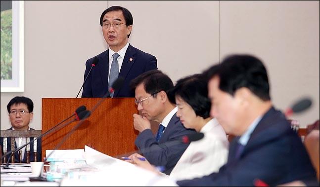조명균 통일부 장관은 한반도 비핵화와 평화정착 과정의 가장 큰 성과로 전쟁 걱정 없는 긴장 없는 한반도를 꼽았다.(자료사진) ⓒ데일리안 박항구 기자