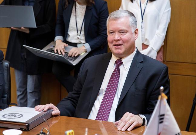 스티브 비건 미국 국무부 대북정책 특별대표 ⓒ데일리안 홍금표 기자