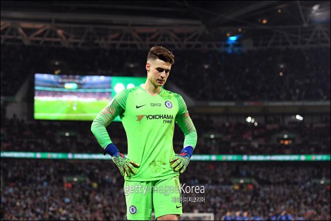 감독에 항명한 케파 골키퍼가 첼시에 잔류할지 지켜볼 일이다. ⓒ 게티이미지