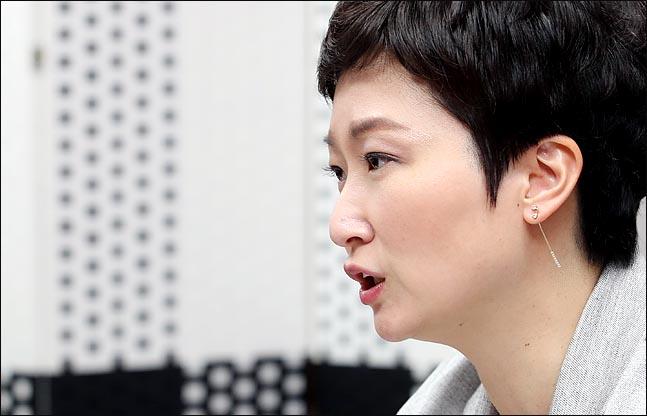 이언주 무소속 의원이 15일 오전 의원회관에서 데일리안과의 인터뷰에 응하고 있다. ⓒ데일리안 박항구 기자