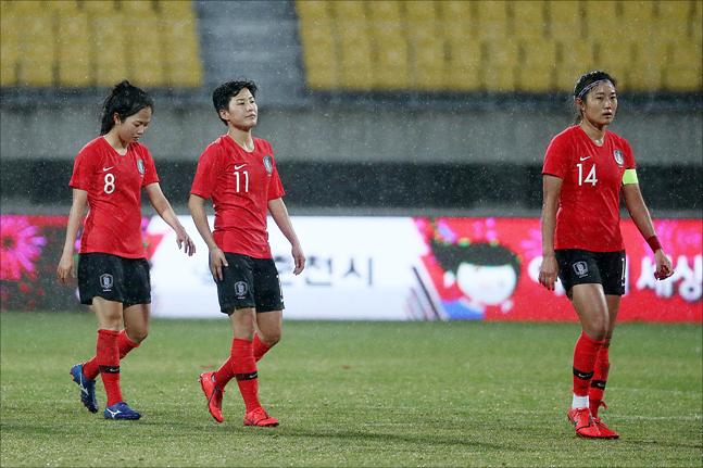 2019 프랑스 월드컵에 나서는 해외파 3인방 (사진 오른쪽부터)조소현, 지소연, 이민아. ⓒ 데일리안 홍금표 기자
