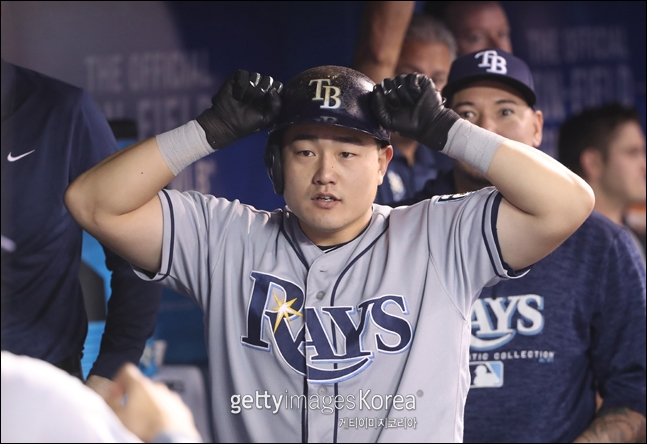 최지만이 보스턴을 상대로 시즌 6호 홈런을 기록했다. ⓒ 게티이미지