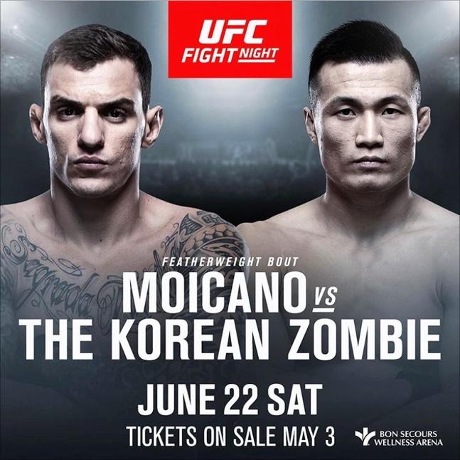 모이카노는 UFC 측의 메인이벤트 제안을 받고, 상대가 정찬성이라는 점에 만족했다. ⓒ UFC
