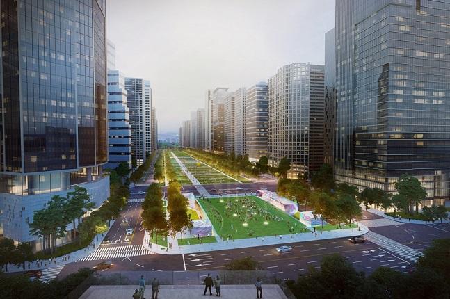 용산역 전면공원 지하공간 개발사업 투시도.ⓒHDC현대산업개발