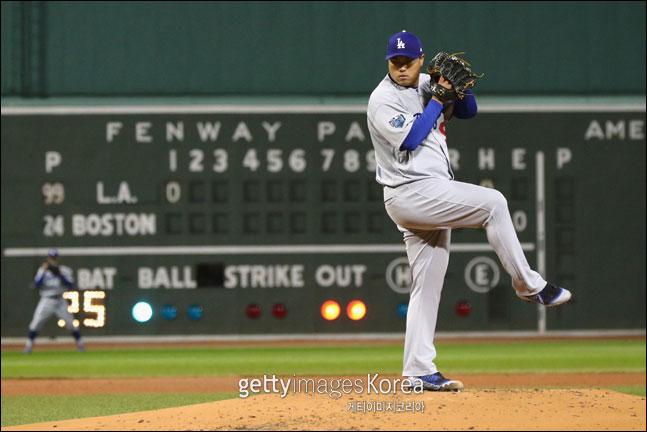 LA 다저스 류현진이 15일 펜웨이파크서 열리는 보스턴 원정경기에 선발 등판한다. ⓒ 게티이미지