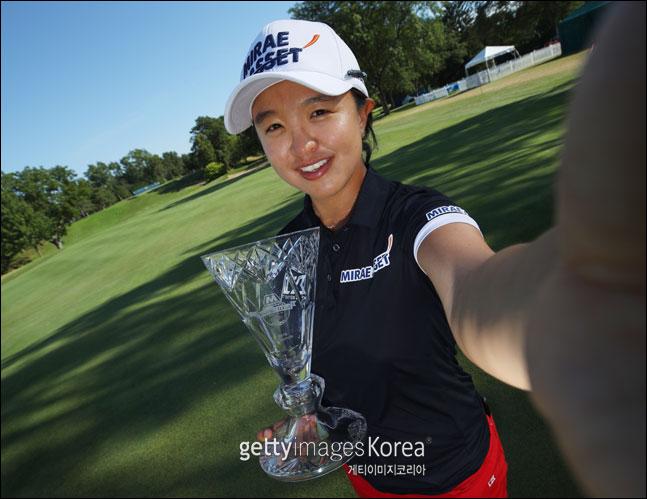 미국여자프로골프(LPGA) 투어 마라톤 클래식 우승을 차지한 김세영이 포즈를 취하고 있다. ⓒ 게티이미지