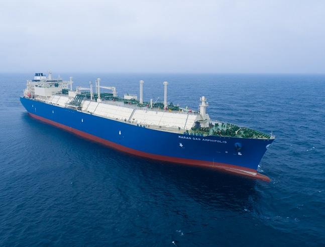 대우조선해양이 건조한 마란가스사 LNG운반선 항해 모습ⓒ대우조선해양