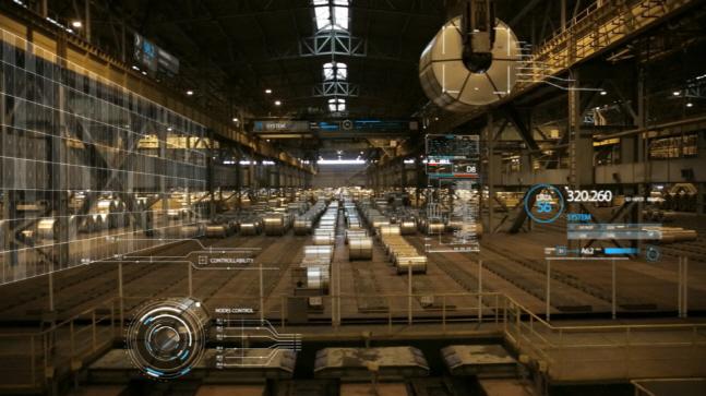 포스코가 자체개발한 스마트 팩토리 기술로 수집·분석한 정보를 활용해 조업하는 모습을 구현한 이미지 사진 ⓒ포스코