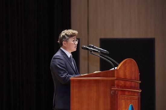 채희봉 한국가스공사 사장이 지난달 10일 대구 본사 국제회의장에서 취임사를 하고 있다.ⓒ한국가스공사