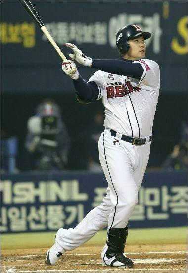 김재환의 홈런은 지난해 비해 1/3 급감했다. ⓒ 두산 베어스
