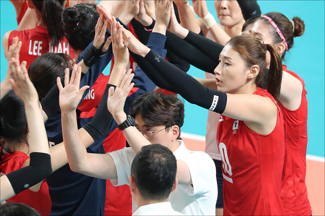 여자배구대표팀이 16일 요코하마서 열린 월드컵 한일전에서 3-1 승리했다(자료사진). ⓒ 데일리안 홍금표 기자