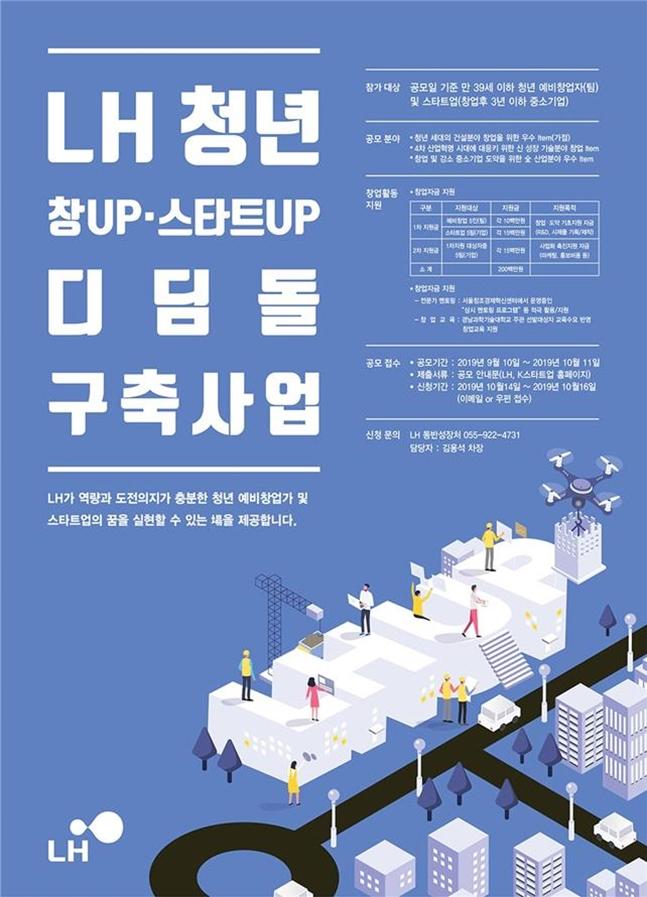 LH 청년 창업, 스타트업 디딤돌 구축사업 포스터. ⓒLH