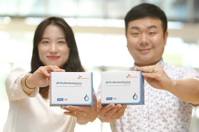 SK바이오사이언스는 자체 개발한 세포배양 독감백신 '스카이셀플루'가 아시아권 국가들에서 보건당국의 시판 허가를 획득함에 따라 본격적인 수출에 나선다고 17일 밝혔다. ⓒSK바이오사이언스