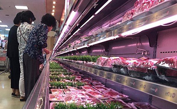 대형마트 정육코너에 진열된 돼지고기.ⓒ데일리안