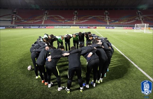 대한민국 축구대표팀이 15일 오후 평양 김일성경기장에서 월드컵 2차예선 북한전을 치른다. ⓒ 대한축구협회