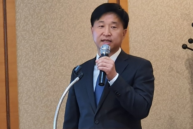 """김정하 티라유텍 대표이사는 16일 여의도에서 기업공개(IPO) 기자간담회를 개최하고 """"이번 상장을 통해 4차산업혁명 시대 글로벌 시장을 선도하는 스마트팩토리 플랫폼 회사로 도약할 것""""이라고 밝혔다.ⓒ데일리안"""
