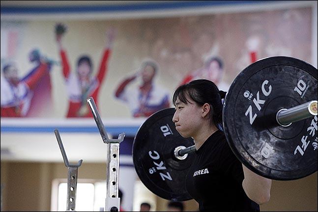 박선영(김해시청) 선수가 훈련을 하고 있다. ⓒ사진공동취재단