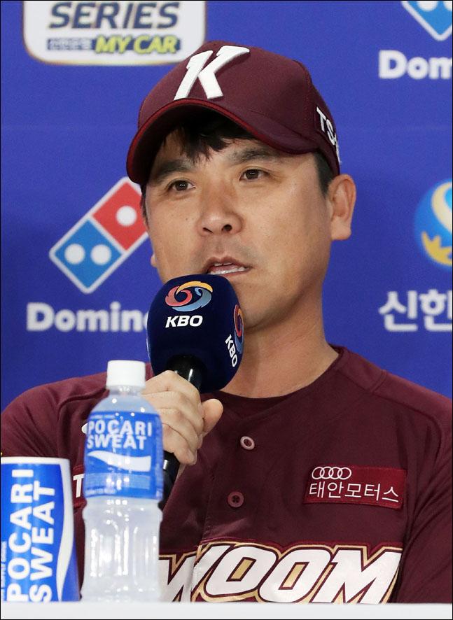 데이터 야구를 펼치는 키움 장정석 감독. ⓒ 뉴시스