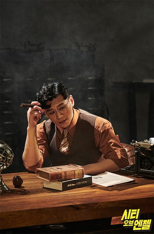 배우 강홍석이 뮤지컬 '시티오브엔젤'을 통해 이미지 변신에 성공했다. ⓒ 샘컴퍼니