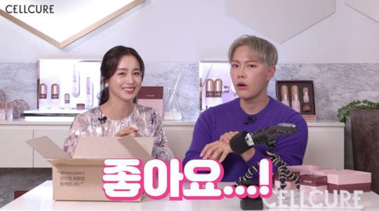 최근 둘째 딸을 출산한 배우 김태희가 화장품 브랜드 유튜브 영상을 통해 근황을 전했다.ⓒ셀트리온스킨큐어
