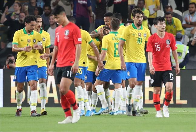 한국과 브라질의 승부를 가른 요인은 선수들의 클래스 차이였다. ⓒ 뉴시스