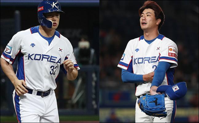 앞으로 한 달간 포스팅 절차를 밟게 될 김재환(왼쪽)과 김광현. ⓒ 데일리안 홍금표 기자