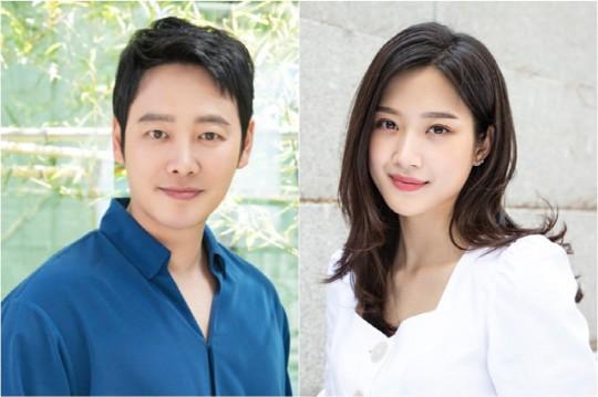 배우 김동욱과 문가영이 MBC
