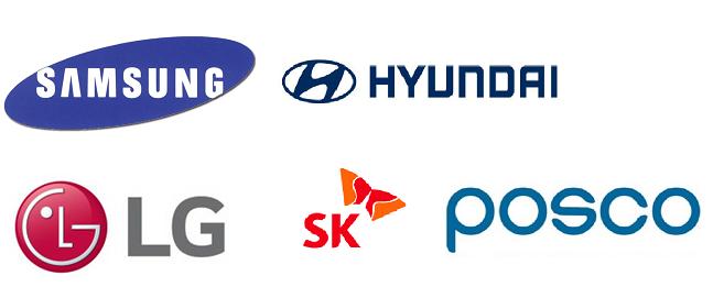 삼성·현대차·SK·포스코·LG그룹 로고.Ⓒ각 사
